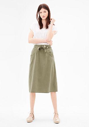 Midi sukně s opaskem