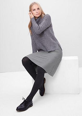 Midi sukně z žebrové pleteniny