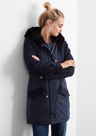 Military-style parka coat from s.Oliver