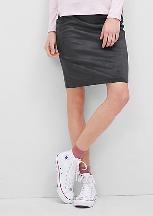 Mini skirt in imitation suede from s.Oliver