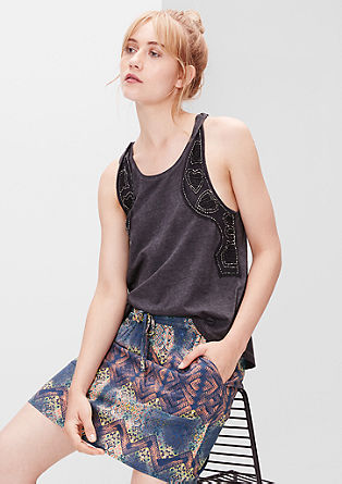 Mini skirt with a fantasy print from s.Oliver
