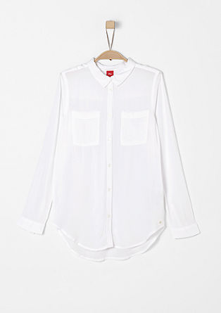 Minimalistische blouse van viscose
