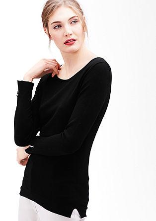 Minimalistische fijngebreide trui