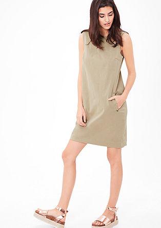 Minimalistische jurk van twill