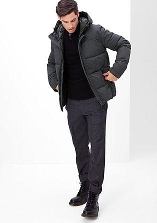Minimalistische winterjas met een warme voering