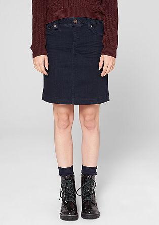 Minirock aus elastischem Denim