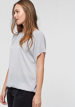 Mixed fabric blouse top from s.Oliver