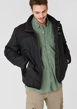 Mixed fabric transitional jacket from s.Oliver