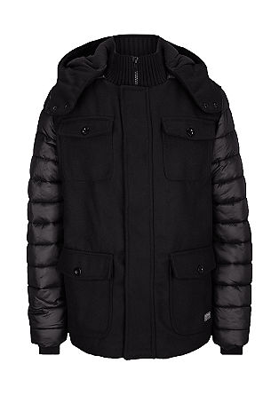 Mixed fabric winter jacket from s.Oliver