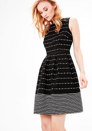 Mixed pattern sheath dress from s.Oliver