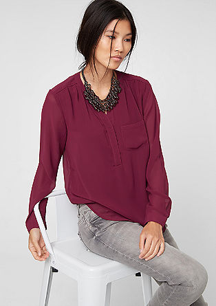 Mock layer chiffon blouse from s.Oliver