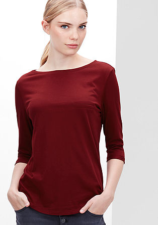 Modal blend top with 3/4-length sleeves from s.Oliver
