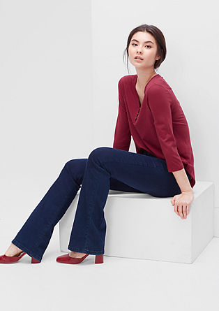 Modal top with a button placket from s.Oliver