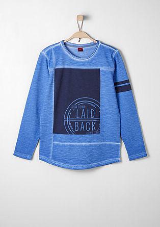 Moderen sweatshirt pulover z barvnim učinkom