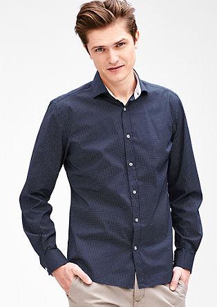 Modern fit: elastisch overhemd met contrasten