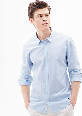 Modern fit: fine check shirt from s.Oliver