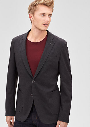 Modern Fit: flat knit tailored jacket from s.Oliver