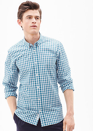 Modern fit: gingham check shirt from s.Oliver