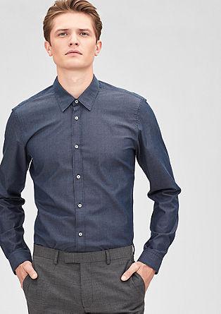 Modern Fit: Hemd im Twill-Look