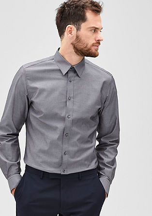 Modern Fit: Hemd mit Muster-Struktur
