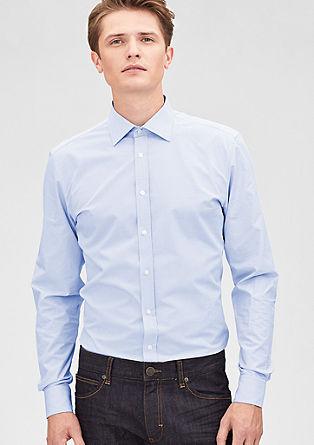 Modern Fit: Hemd mit Webmuster