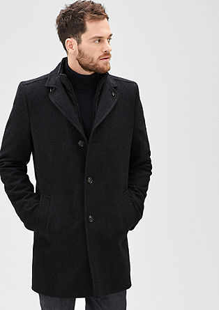 Modern Fit: herringbone coat from s.Oliver
