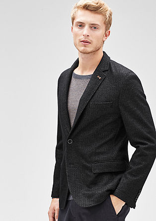 Modern Fit: Herringbone jacket from s.Oliver