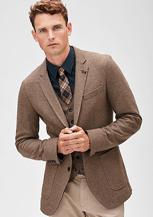 Modern Fit: Jacket with unfinished edges from s.Oliver