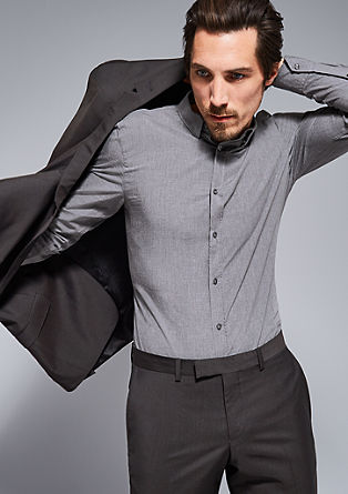 Modern fit: overhemd met een gemêleerde look