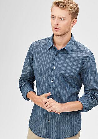 Modern fit: overhemd met motiefje