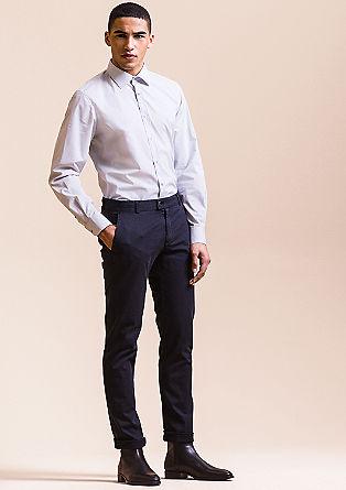 Modern fit: overhemd met New-Kent collar