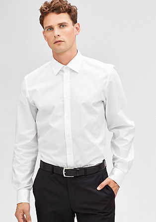 Modern fit: overhemd met New-Kent collar