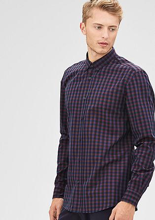 Modern fit: overhemd met vichyruiten