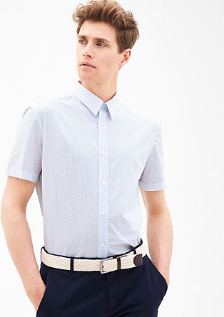 Modern fit: patterned short sleeve shirt from s.Oliver
