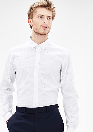 Modern fit: polka dot stretch shirt from s.Oliver
