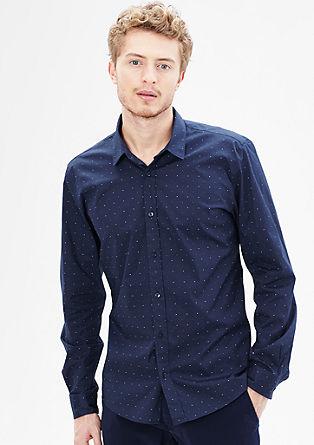 Modern Fit: raztegljiva srajca s pikami