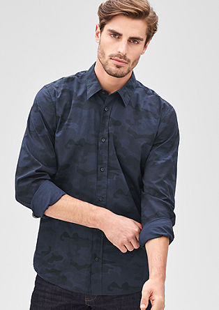 Modern Fit: shirt with a camouflage pattern from s.Oliver