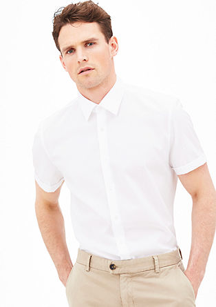 Modern fit: shirt with a large collar from s.Oliver