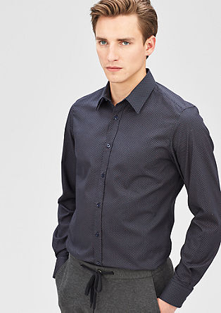 Modern Fit: shirt with a minimal pattern from s.Oliver