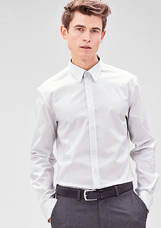 Modern Fit: shirt with a minimalist pattern from s.Oliver