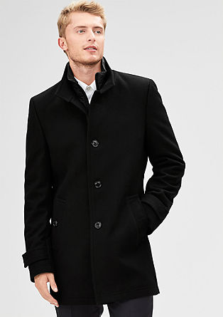Modern Fit: short wool coat from s.Oliver