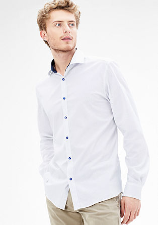 Modern fit: Stretchy shirt with contrast details from s.Oliver