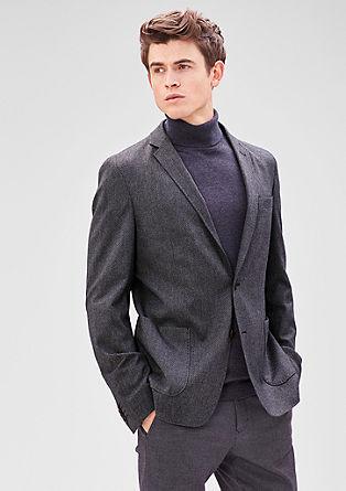 Modern Fit: suknjič z vzorcem dobby