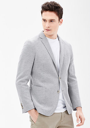 Modern fit: textured sports jacket from s.Oliver