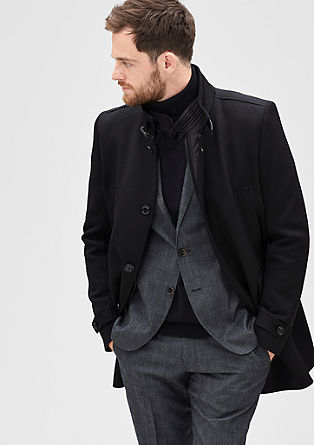 Modern Fit: Twill coat with an insert from s.Oliver