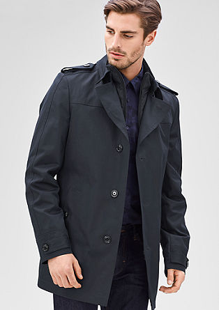 Modern Fit: Wattierter Trenchcoat
