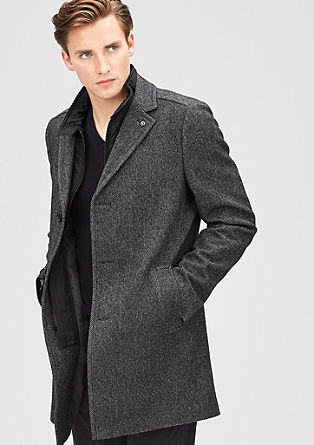 Modern Fit: Wool blend coat from s.Oliver