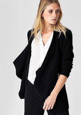 Moderne blazer met een lang model