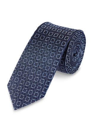 Modieuze zijden stropdas met ruiten