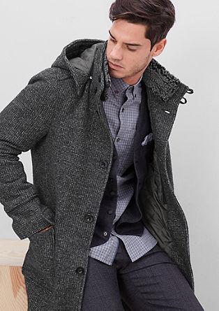 Modischer Mantel mit Teddykragen